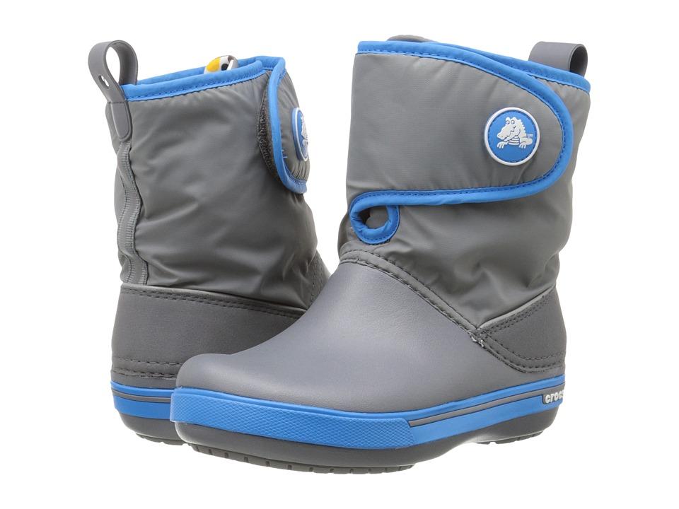 Crocs Kids - Crocband II.5 Gust Boot (Toddler/Little Kid) (Charcoal/Ocean) Kids Shoes