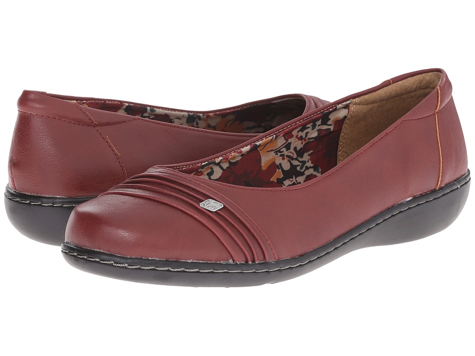 Soft Style Jordyn (Dark Red Tumbled Leather) Women
