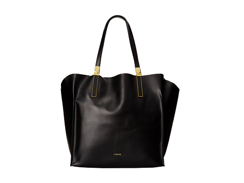 Lodis Accessories - Blair Unlined Lucia Travel Tote (Black/Cobalt) Satchel Handbags