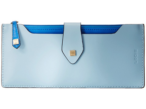 Lodis Accessories - Blair Unlined Sandy Multi Pouch Wallet (Ice/Cobalt) Wallet Handbags