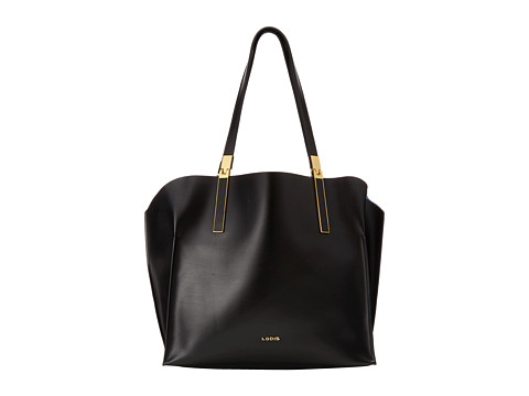 Lodis Accessories - Blair Unlined Anita East West Tote (Black/Cobalt) Satchel Handbags