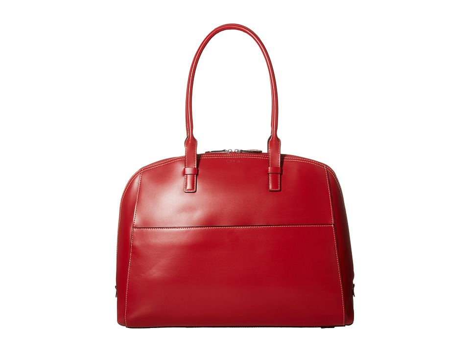 Lodis Accessories - Audrey Buffy Brief Satchel (Red/Black) Satchel Handbags