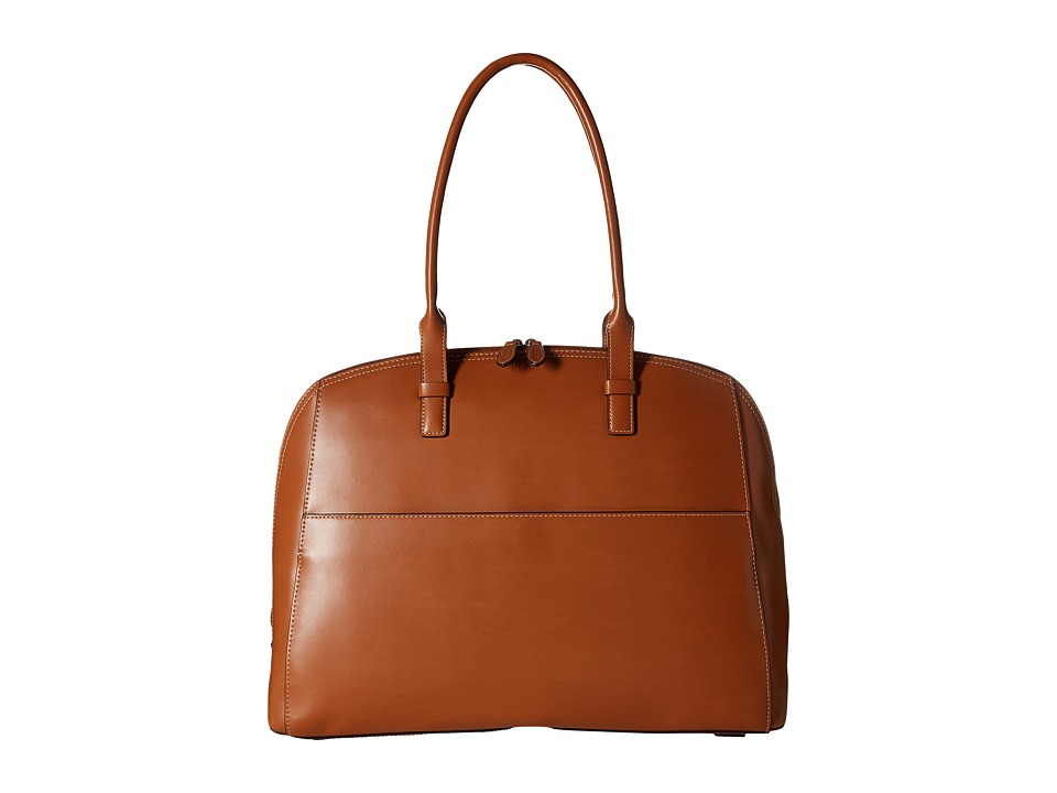Lodis Accessories - Audrey Buffy Brief Satchel (Toffee/Chocolate) Satchel Handbags