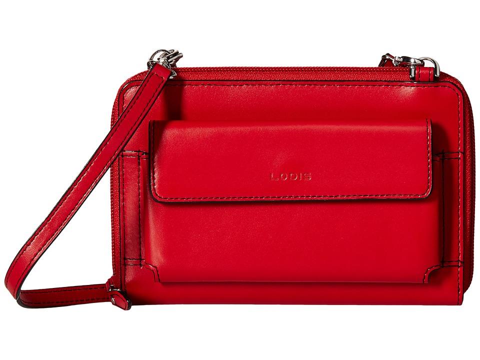 Lodis Accessories - Audrey Tracy Small Crossbody (Red/Black) Cross Body Handbags