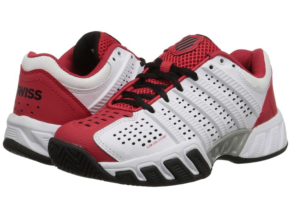 K-Swiss Kids - Bigshot Light 2.5 Tennis (Little Kid/Big Kid) (White/Red/Black) Boys Shoes