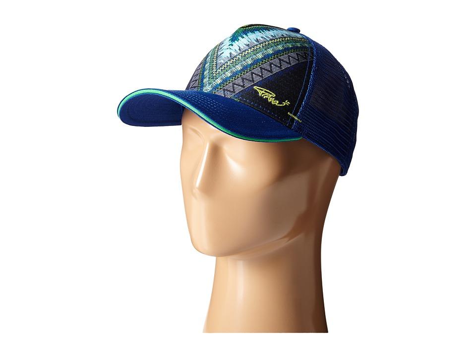 Prana - La Viva Trucker Hat (Indigo) Caps