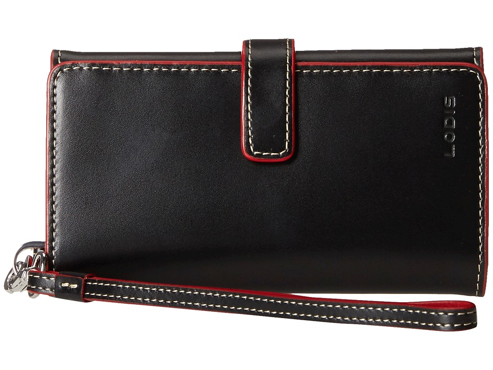 Lodis Accessories - Audrey Lily Phone Wallet (Black/Red) Wallet Handbags