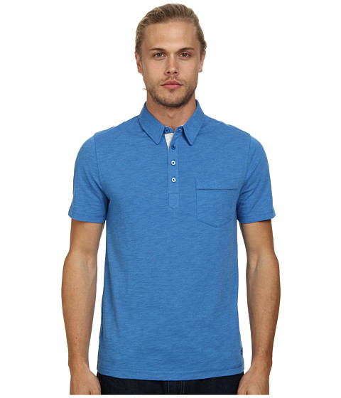 Original Penguin - Bing Polo Heritage Fit Shirt (Classic Blue) Men's Short Sleeve Pullover