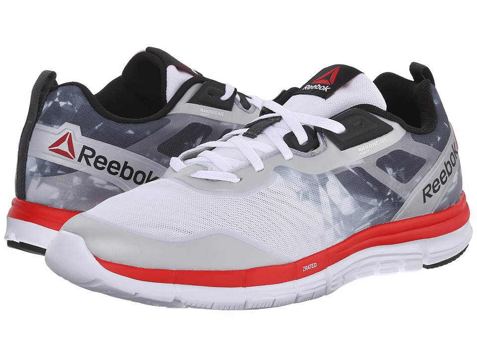 Reebok - ZQuick Tempo Soul (White/Gravel/Red Rush/Black) Men's Running Shoes