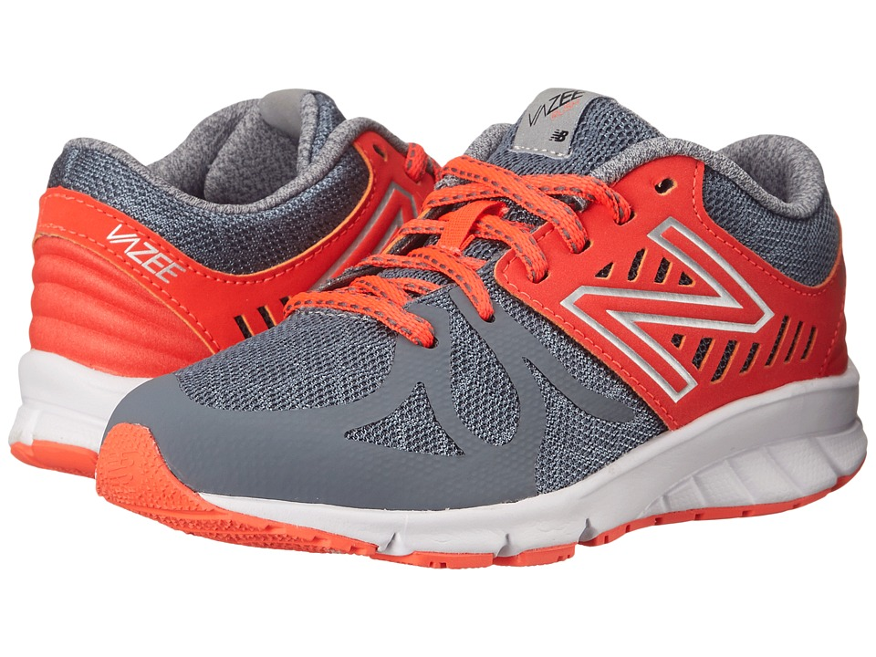 New Balance Kids - Vazee Rush (Little Kid) (Grey/Orange) Boys Shoes