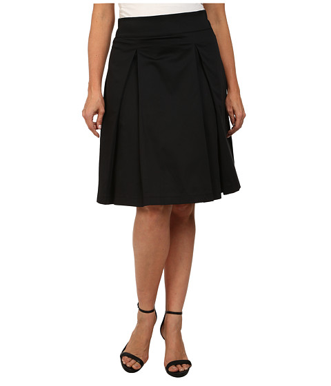 Poppy & Bloom - Plus Size Tilt and Twirl Skirt (Black Solid) Women's Skirt