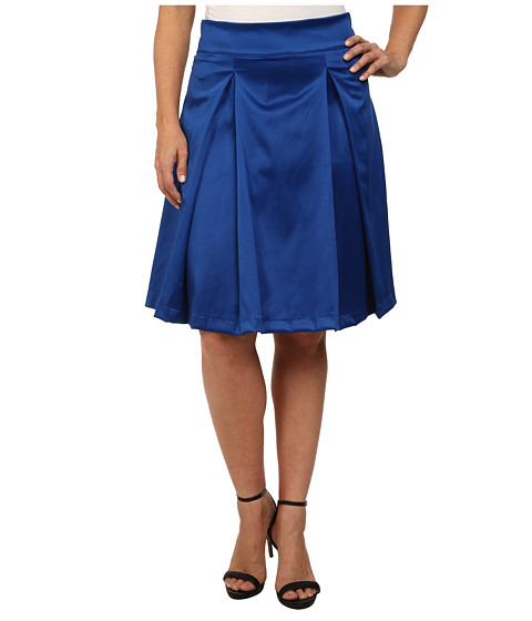 Poppy & Bloom - Plus Size Tilt and Twirl Skirt (Blue Solid) Women