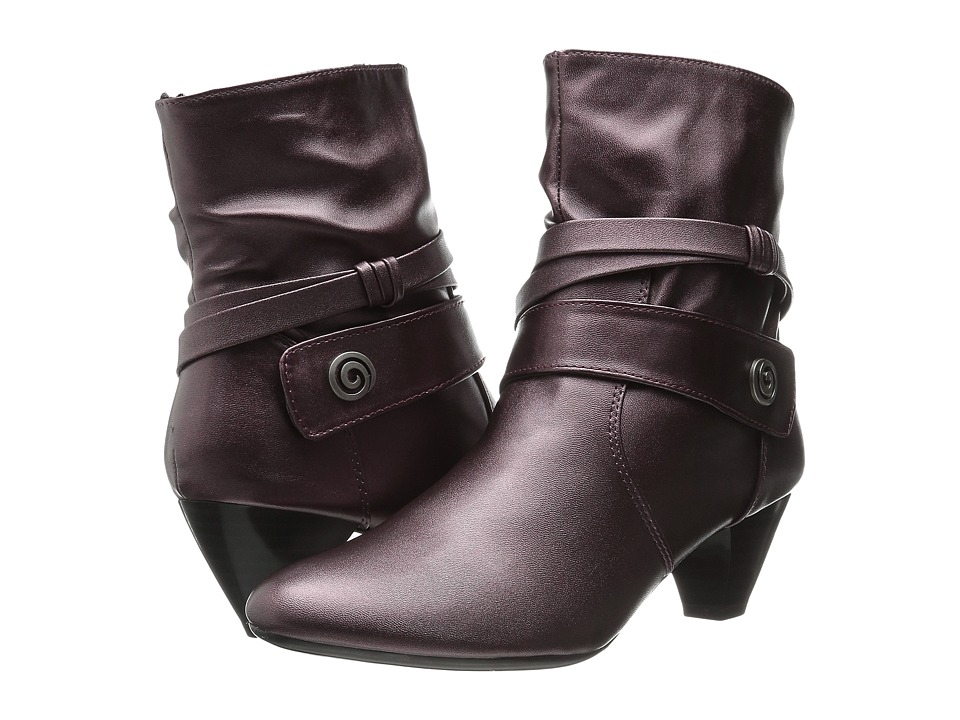 Soft Style - Gwenda (Wine Metallic Calf) Women's Pull-on Boots