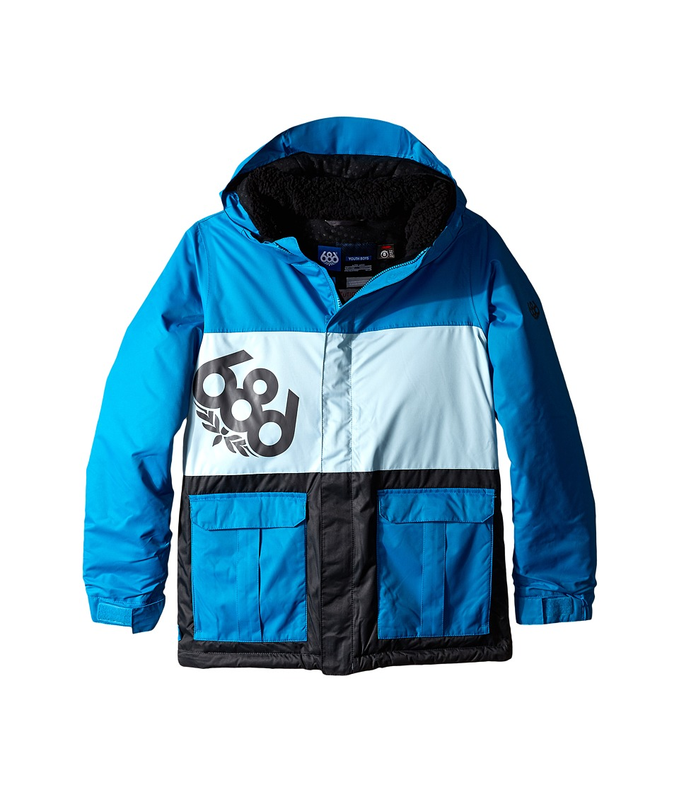 686 Kids - Elevate Insulated Jacket (Big Kids) (Blue Colorblock) Boy