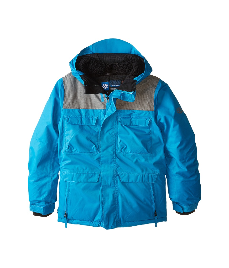 686 Kids - Approach Insulated Jacket (Big Kids) (Blue) Boy