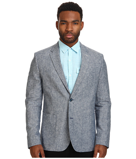 Original Penguin - Linen Club Heritage Fit Blazer (Dress Blues) Men