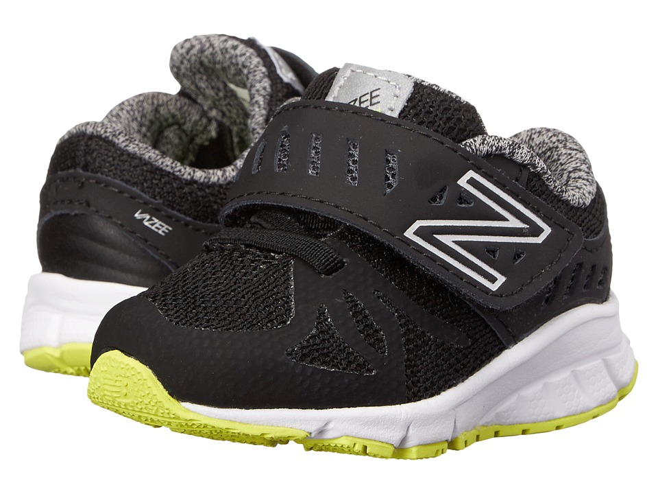 New Balance Kids - Vazee Rush (Infant/Toddler) (Black/Hi-Lite) Boys Shoes