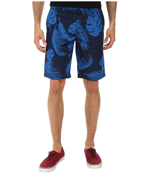 Original Penguin - Basic Dark Floral Shorts (Dress Blues) Men