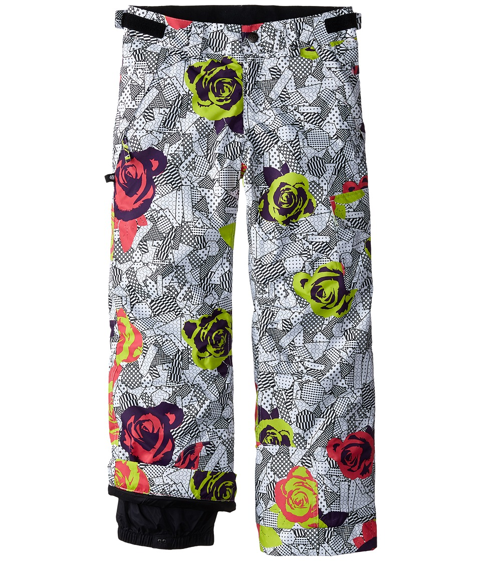 686 Kids - Agnes Insulated Pants (Big Kids) (Fuschia Floral) Girl's Outerwear