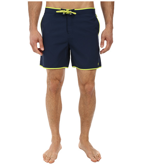 Original Penguin - Earl Fixed Volley Shorts (Dress Blues) Men's Swimwear