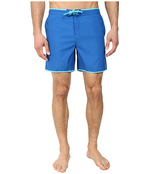 Original Penguin - Earl Fixed Volley Shorts (Classic Blue) Men's Swimwear