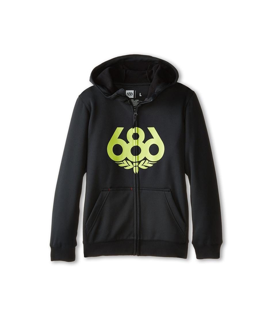 686 Kids - Venture Bond Fleece Hoodie (Big Kids) (Black) Boy's Sweatshirt