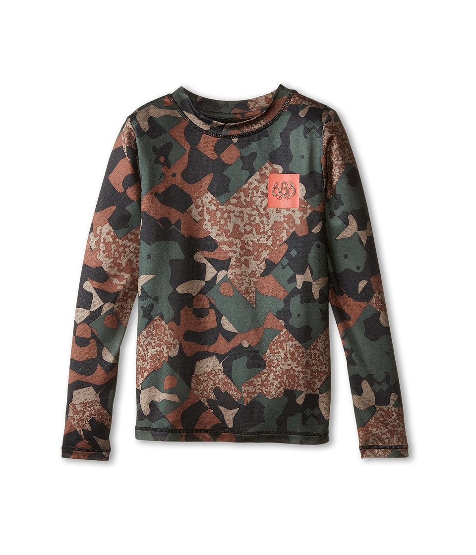 686 Kids - Thrill 1st Layer Shirt (Big Kids) (Hunter Cubist Camo) Boy