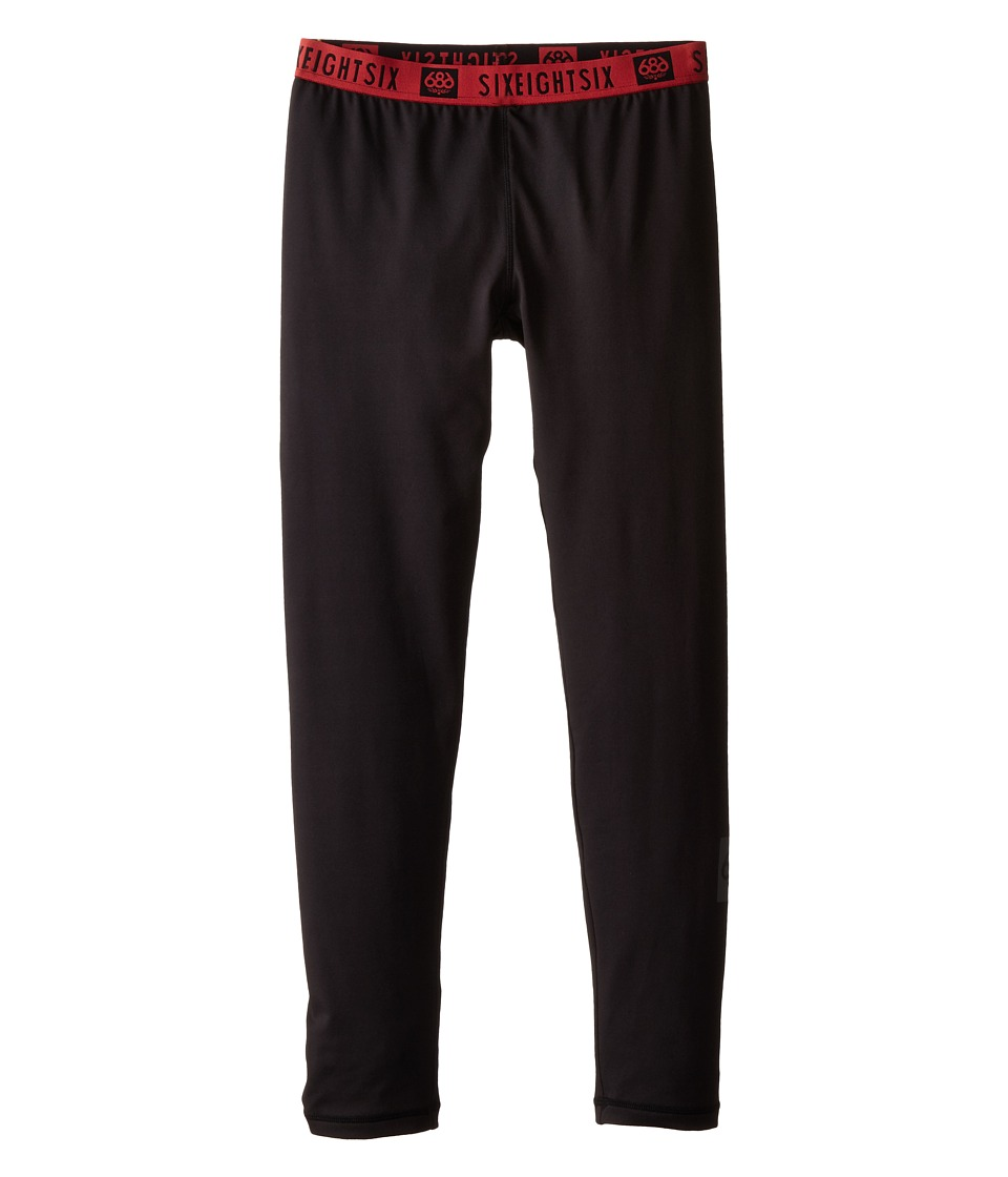 Image of 686 Kids - Thrill 1st Layer Pants (Big Kids) (Black) Boy's Outerwear