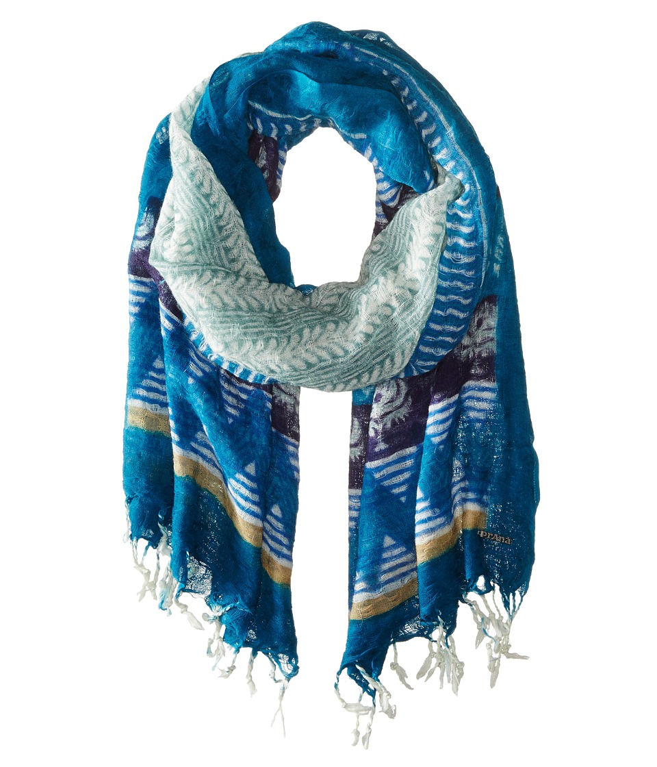 Prana - Tassle Scarf (Cast Blue) Scarves