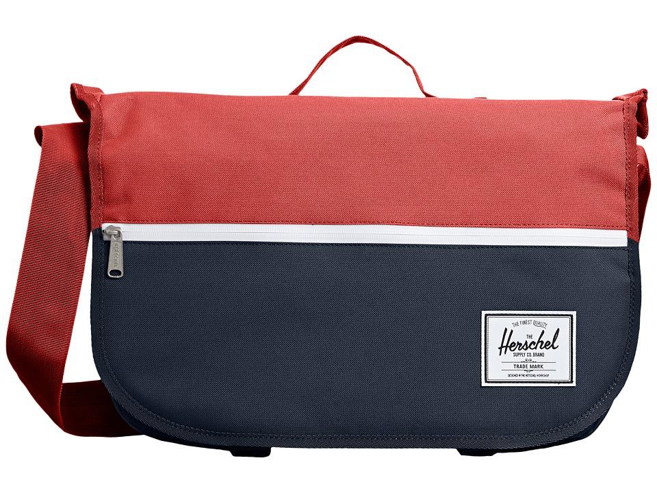 Herschel Supply Co. - Pop Quiz Messenger (Navy/Red) Messenger Bags