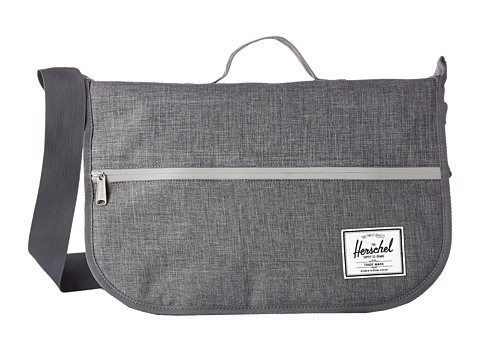 Herschel Supply Co. - Pop Quiz Messenger (Charcoal Crosshatch/3M Zipper) Messenger Bags