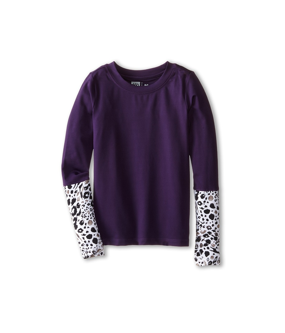 686 Kids - Serenity 1st Layer Shirt (Big Kids) (Violet) Girl's T Shirt