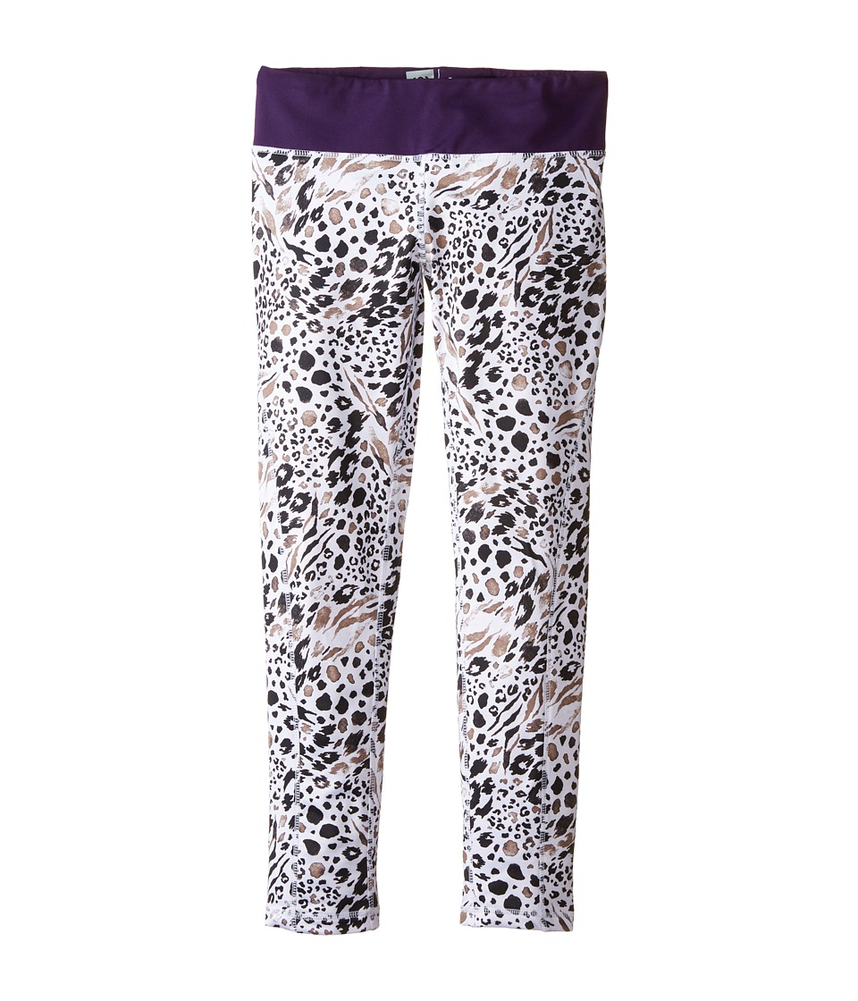 686 Kids - Serenity 1st Layer Leggings (Big Kids) (Grey Animal/Violet) Girl's Casual Pants