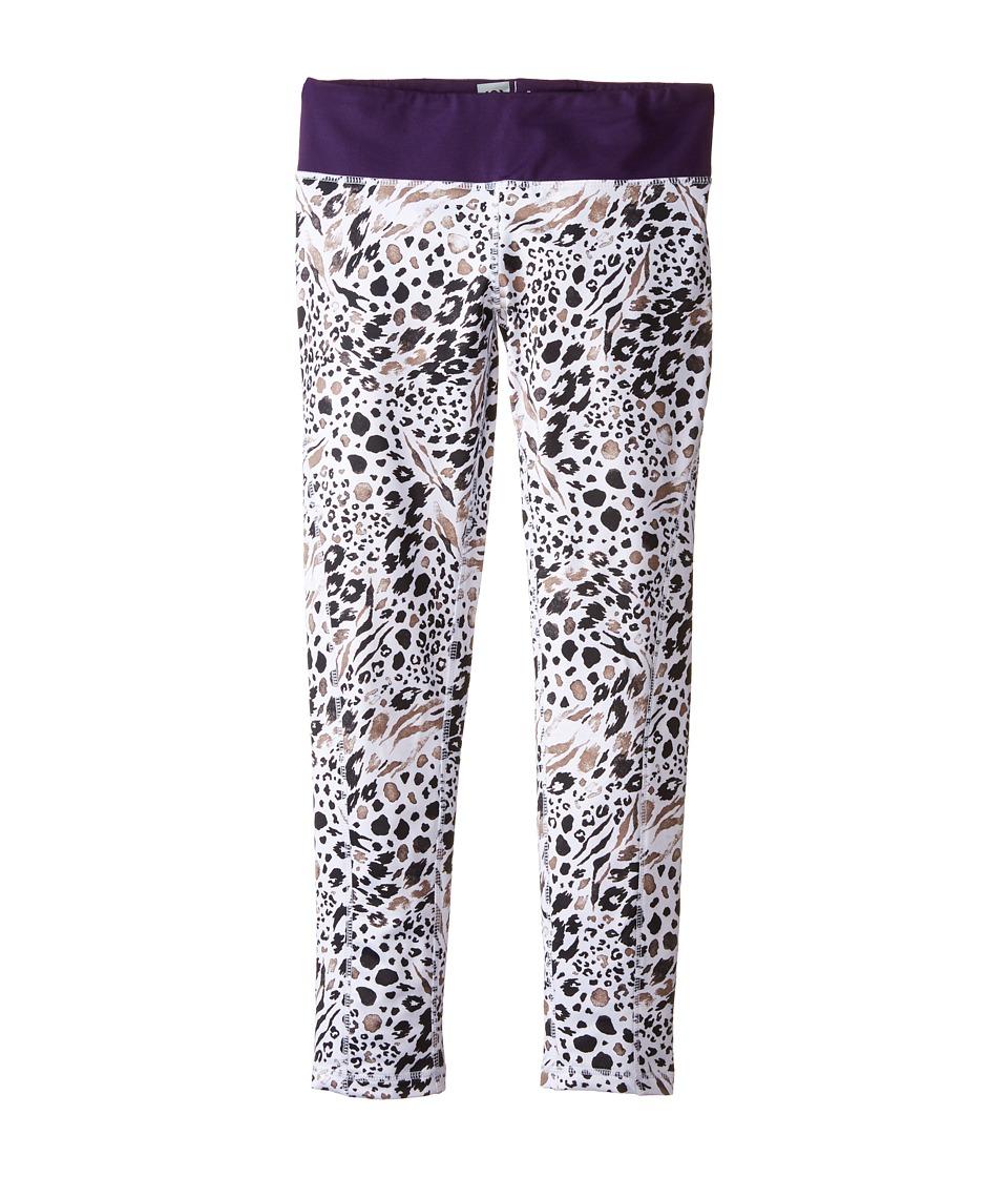 Image of 686 Kids - Serenity 1st Layer Leggings (Big Kids) (Grey Animal/Violet) Girl's Casual Pants