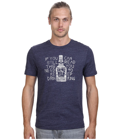 Original Penguin - Still Read This Tee (Dress Blues) Men