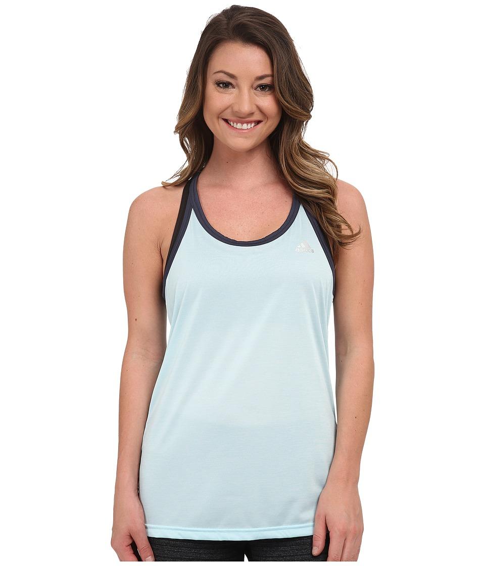 adidas - Hi 5 Tank (Frozen Blue Heather/Frozen Blue/Matte Silver) Women's Sleeveless