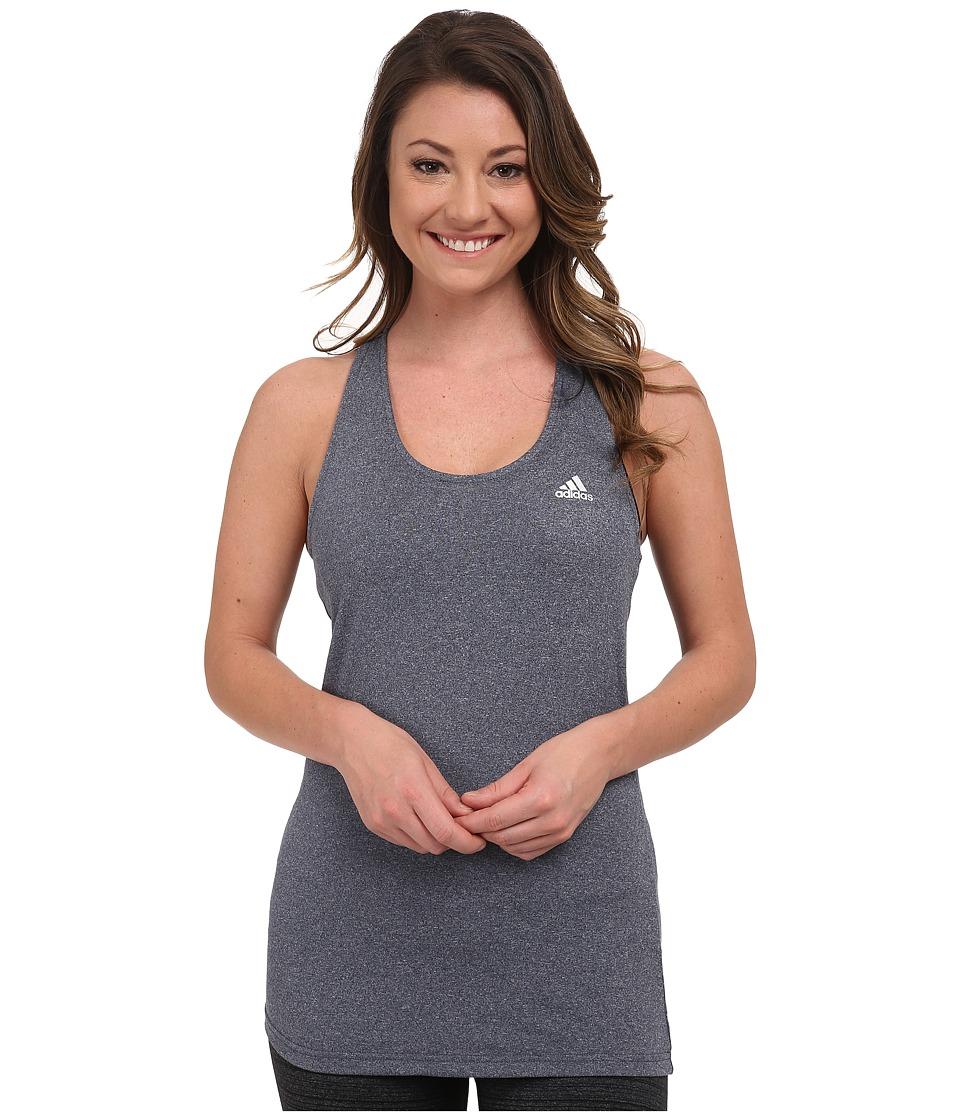 adidas - Derby Tank (Midnight Grey Heather/Matte Silver) Women's Sleeveless
