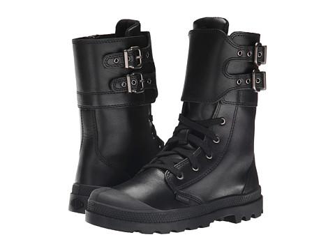 Palladium Kids - Pampa Peloton L Zip (Little Kid) (Black) Girls Shoes