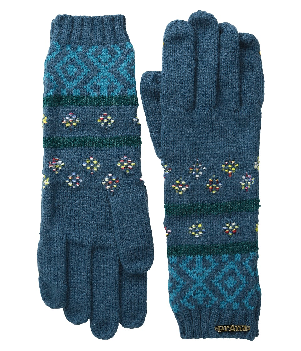 Prana - Laurena Gloves (Deep Teal) Extreme Cold Weather Gloves