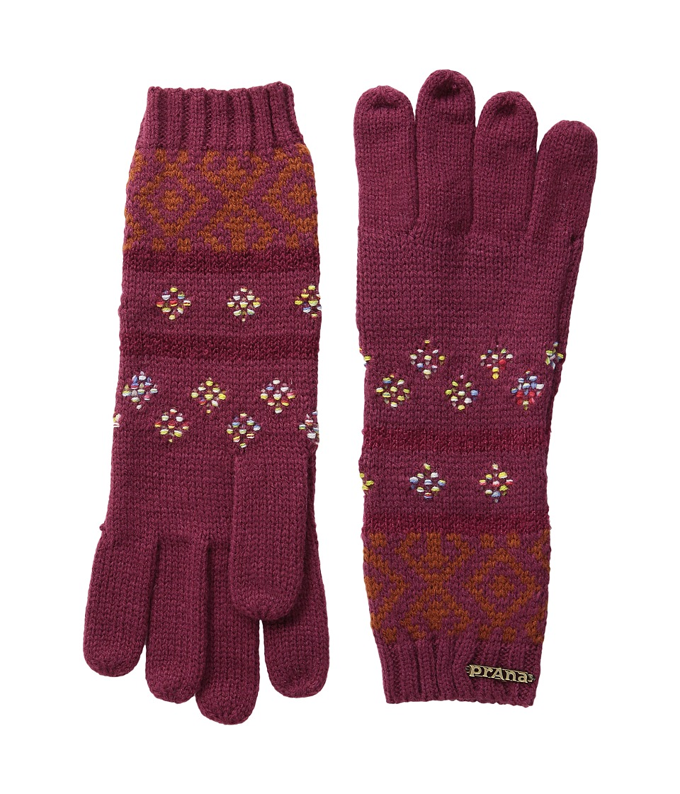 Prana - Laurena Gloves (Plum Red) Extreme Cold Weather Gloves