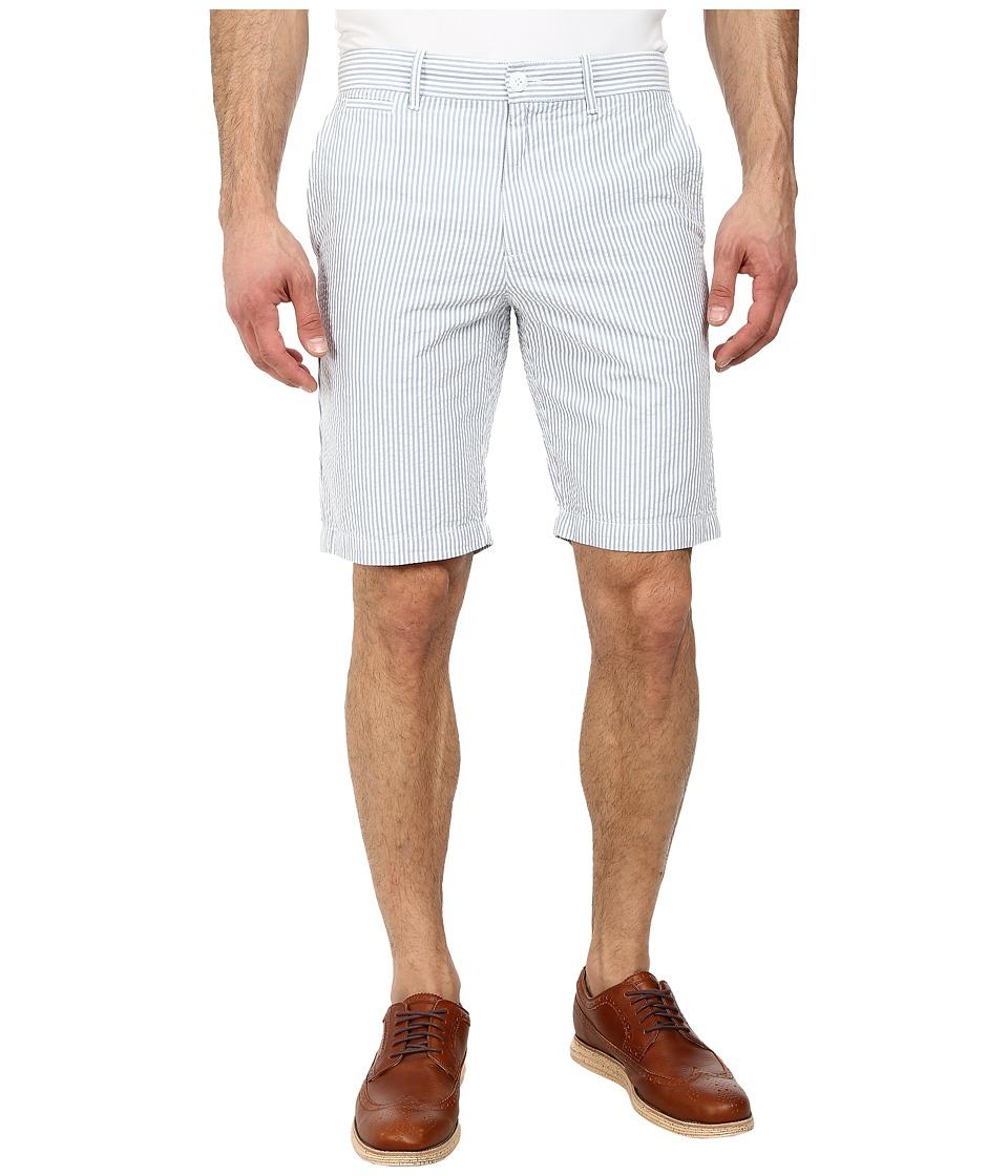 Original Penguin - Seersucker Basic Slim Fit Shorts (Faded Denim) Men