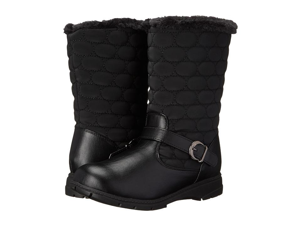 Soft Style - Pixie (Black Vylon/Vitello) Women's Cold Weather Boots