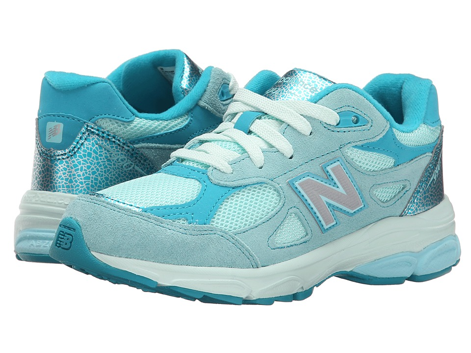 New Balance Kids - 990v3 (Little Kid) (Acrtic Blue/Sea Glass) Girls Shoes
