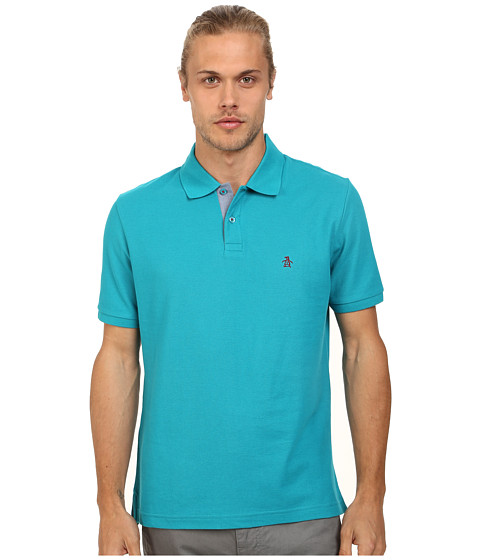 Original Penguin - Daddy-O Polo Classic Fit Shirt (Enamel Blue) Men's Short Sleeve Pullover