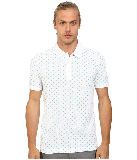 Original Penguin - Re-Pete Cotton Pique Heritage Fit Polo Shirt (Bright White) Men