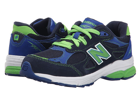 New Balance Kids - 990v3 (Little Kid) (Pigment/Spectrum Green) Boys Shoes