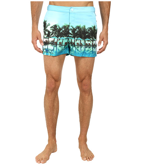 Original Penguin - Rooftop Photo Print Fixed Box Trunk (Corydalis Blue) Men's Swimwear