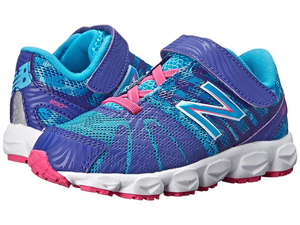 New Balance Kids - 890v5 (Infant/Toddler) (Blue/Blue) Girls Shoes