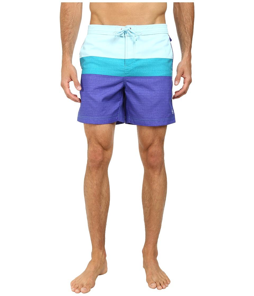 Original Penguin - Three Color Stripe Fixed Volley Shorts (Royal Blue) Men