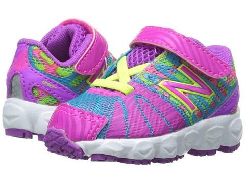 New Balance Kids - 890v5 (Infant/Toddler) (Pink/Green) Girls Shoes